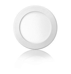 Luminária LED de Embutir Redonda 12W Branca Fria Bivolt - Elgin