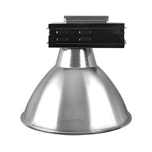 Luminária Industrial 20 Pol  Difusor em Alumínio Alojamento Caixa Preta E-40 - Claron