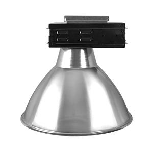 Luminária Industrial 20 Pol  Difusor em Alumínio Alojamento Caixa Preta E-27 - Claron