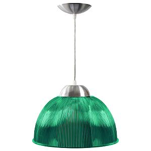 Luminária Prismática 12 Pol Pendente Verde Luxo E-27 - Claron