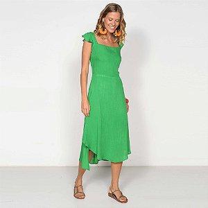 REF:. 7044 Vestido Midi Verde