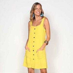 REF:. 7080 Vestido Curto Amarelo