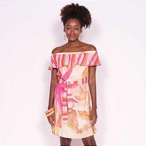 REF:. 7017 Vestido Curto Laranjamor Rosa