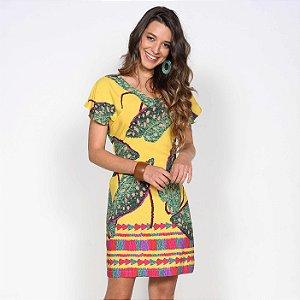 REF:. 7117 Vestido Curto Lucía Amarelo