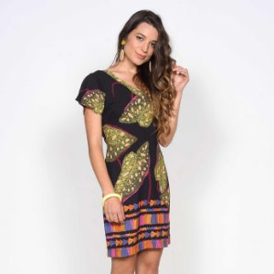REF:. 7117 Vestido Curto Lucía Preto