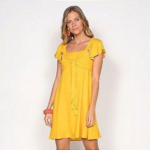 REF:. 7134 Vestido Curto Amarelo