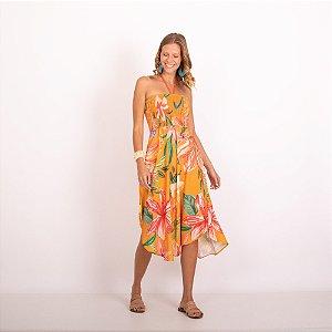REF:. 7274  Vestido Refúgio Laranja