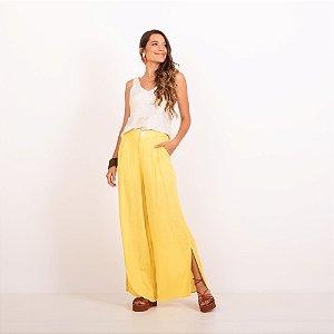 REF:. 7323  Calça Pantalona Amarela