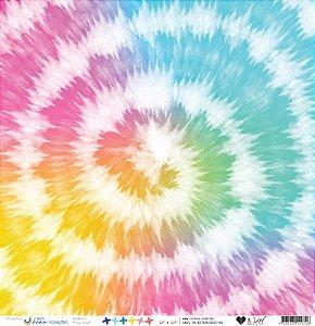 Papel Vegetal -Tie Dye (Coleção Mais Boas Vibrações) It Lov