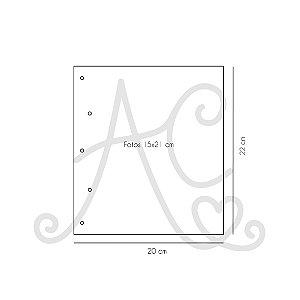 Miolo Plástico Para Álbum 15x21 com 5 Unidades. -  PaperChase