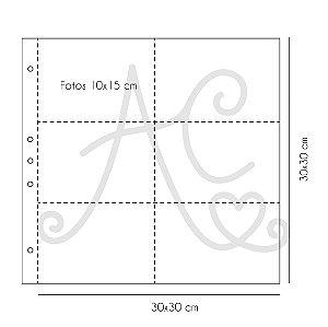 Miolo Plástico Para Álbum 30x30 - Com Divisórias ( PaperChase )