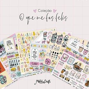 Kit de Papéis - Coleção O Que Me Faz Feliz (Ateliê Craft)
