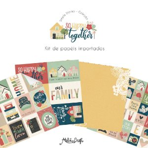 Kit de Papéis Coleção So Happy Together (Simple Stories)