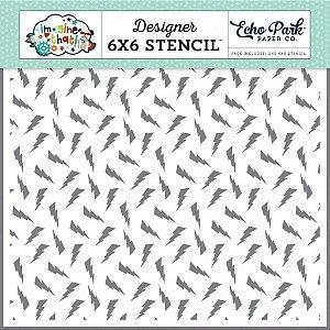 Stencil 6x6 ( Imagine That) Echo Park