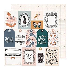 Kit Coleção Fresh Bouquet ( Crate Paper) Só papel 6 itens.