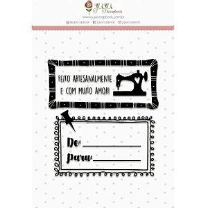 Carimbo - Feito Artesanalmente (Love Scrap) Juju Scrapbook