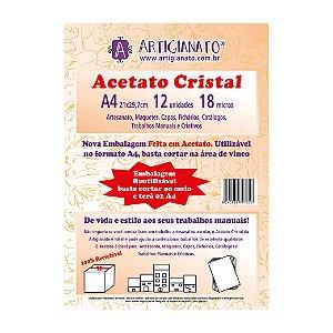 Acetato Cristal A4 18 Micras (Artigianato)