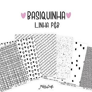 Kit de Papel - Coleção O Que me Faz Feliz & Basiquinha  (Ateliê Craft)