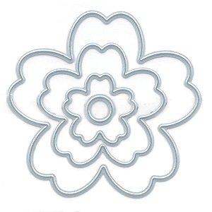 Faca para corte flor estilizada