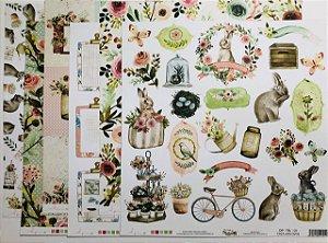 Kit de papéis - Coleção The Simple Life ( Dany Peres)