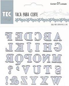 Faca para Corte ( Alfabeto) Toke e Crie