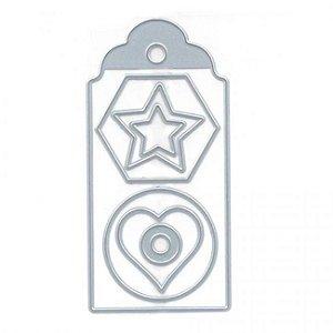 Faca para corte (Tag, coração, estrela e formas) Toke e Crie