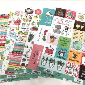 Kit de Papéis - Food, Friends, Sunshine ( ScrapDiary)