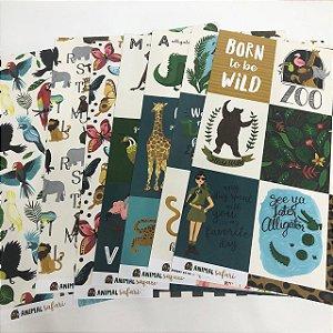 Kit de Papéis - Coleção Animal Safari (Echo Park)
