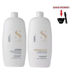 Kit Alfaparf Shampoo e Condicionador Semi Di Lino Diamond 1L