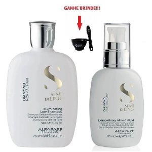 Kit Diamond Shampoo 250ml e Fluido 125ml Alfaparf