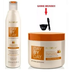 Kit Day By Day Cenoura Nutrahair 500ml