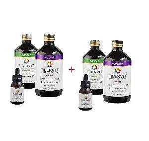 2 Kits Monovin Fibervit Crescimento Nutra Hair