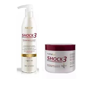 Regenerador 500ml E Blindagem 500g Shock3 Nutra Hair