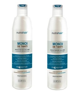 Kit 02 Redutor De Volume Monoi De Tahiti Nutra hair 500ml
