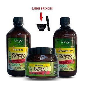 Kit Hidratação Curvax Control Three Therapy 3 itens