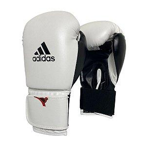 Luva de Boxe / Muay Thai 14oz Power 100 - Branco com Preto - Adidas