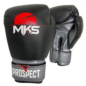 Luva de Boxe / Muay Thai 12oz Prospect - Preto com Prata - MKS