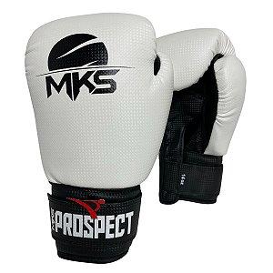 Luva de Boxe / Muay Thai 14oz Prospect - Branco - MKS