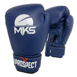 Luva de Boxe / Muay Thai 12oz Prospect - Azul - MKS