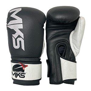 Luva de Boxe / Muay Thai 12oz Rustic Couro Legitimo - Preto - MKS