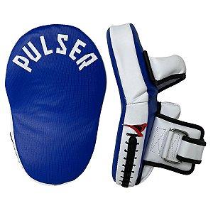 Manopla de Soco Longa C/ Pegador Aparador de Chute - Azul com Branco - Pulser