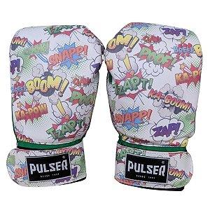 Luva de Boxe / Muay Thai Infantil 06oz PU - Verde Comic - Pulser