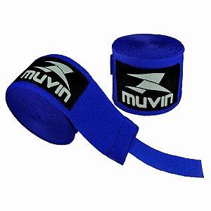 Par Bandagem Atadura Elástica 3mt - Azul - Muvin