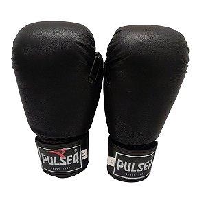 Luva de Boxe / Muay Thai 14oz PU - Preto - Pulser