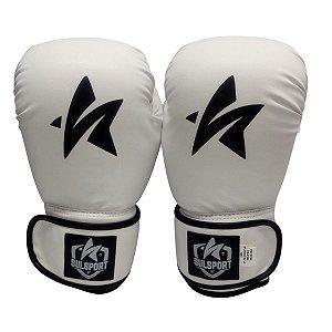 Luva de Boxe / Muay Thai 12oz PU - Branco - Sulsport