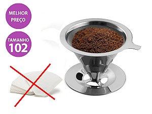 Filtro Coador de Café Inox - Tamanho 102