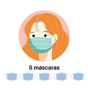 Kit com 5 Máscaras Personalizadas
