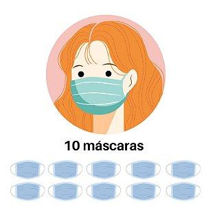 Kit com 10 Máscaras Personalizadas