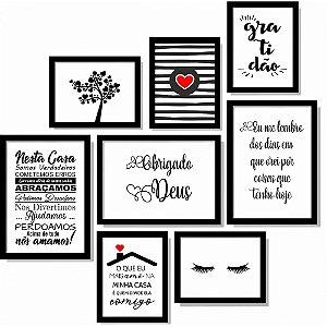 Kit Com 8 Quadros Decorativos Para Sala de Estar