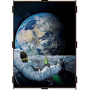 Quadro Porta Tampinha Pequeno Astronauta